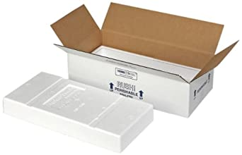 """Polar Tech 270C Thermo Chill Insulated Carton with Foam Shipper, Extra Large, 24-1/2"""" Length x 5-1/2"""" Width x 5-1/2"""" Depth (Case of 4)"""