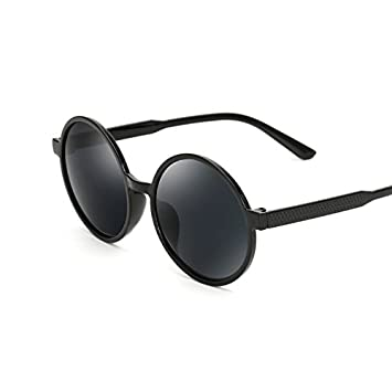 QHGstore Vintage Men Women Round Mirrored Sunglasses Eyewear Outdoor Sports Glasses Silver/Black
