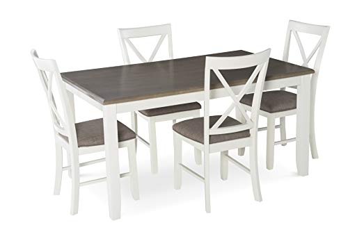 Powell's Furniture 15D8153 Jane 5 Piece Dining Set, White