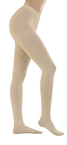 Women's 150 Denier Thick Footed Tights Pantyhose (Skin Beige - 2Pair, M/L) ()