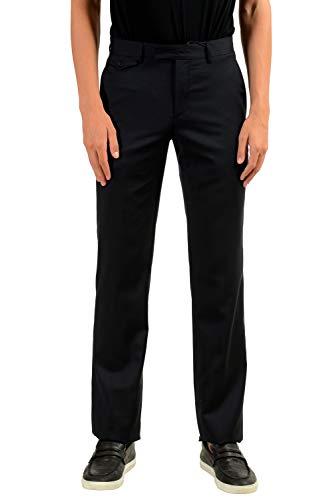 (John Varvatos Men's 100% Wool Navy Blue Dress Pants US 28 IT 44)