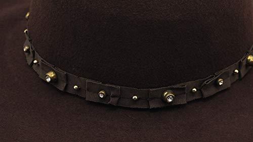 47dffce67e6e Lovful Women's Wide Brim Felt Bowler Fedora Floopy Wool Hat,Style2_Coffee
