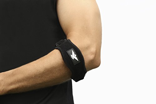 Tennis Elbow Brace With Tendon Compression Pad ⭐ 2 Pack ⭐ by Worldwide Elite One Size Fits Most Best Golfers & Tennis Elbow Support Brace Strap Band For Elbow Tendonitis & Pain