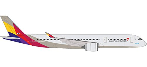 'Herpa 529983 Asiana Airlines Airbus A350 – 900 XWB – hl8078 miniatura veicolo