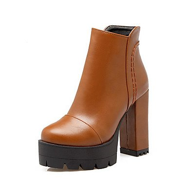 ZJJ Cerniera donne rotonda tacchi alti Scarpe chiuse Low-Top stivali , us5 / eu35 / uk3 / cn34