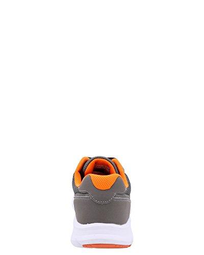 Scarpe Da Ginnastica Da Uomo In Mesh R-20, Grigio / Arancione, 10