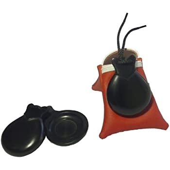 Pair Flamenco Castanets Fibra concierto doble caja- Size nº4- by Castañuelas del SUR.Black fiberglass Concert model with - double box- Includes a carrying ...