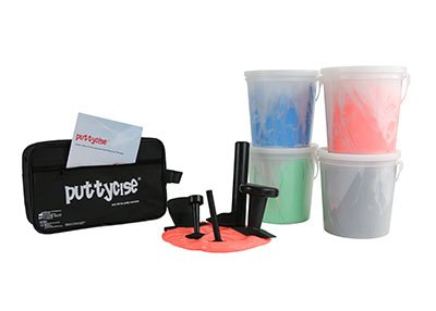 Puttycise174; TheraPutty174; Set, 5 Tools, 4 x 5 lb. Putties, Hard (Red, Green, Blue, Black)