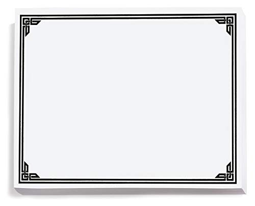 Black on White Classic Certificates, Foil Accents, 8.5 x 11, 50 Count