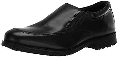 ROCKPORT Men's Lead The Pack Slip-On Black WP Leather 6.5 W (EE)-6.5 W