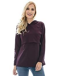 Bearsland Women's Maternity Nursing Hoodie Casual Top Breastfeeding Sweatshirt