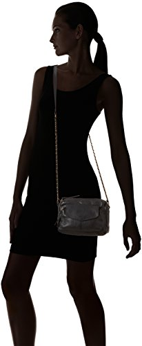Cross Negro Bag Schwarz Naina Pieces Bolso Ps Over para mujer Black de Leather hombro Black fXPxtZq