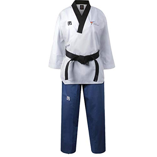 Mooto Korea Taekwondo Poomsae Uniform WT Logo Taebek Dan MMA Martial Arts Karate Judo Kick Boxing (180(Height:180~189cm)(5.90~6.20ft), 2.Female)