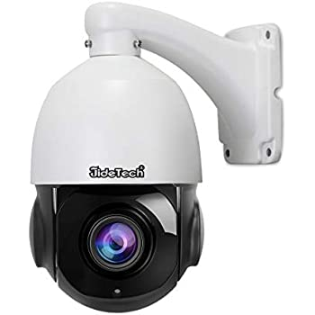 High Speed 5MP H.265 PTZ POE IP Security Dome Camera with 20X Optical Zoom Pan/Tilt and Two Way Audio Waterproof IR-Cut Night Vision Support SD Card Slot ...