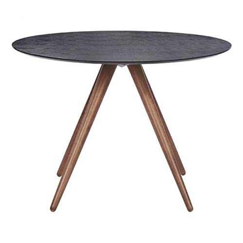 Circular Black & Walnut 42'' Meeting Table by Unknown (Image #1)