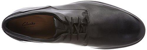 Clarks Herren Vennor Walk Derbys Schwarz (Black Leather)