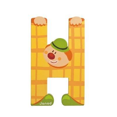 Janod H - Juratoys Clown Alphabet Individual Letter