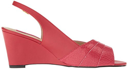 Pleaser Faux Sandal Label Kim01sp Pink Rpu Women Wedge Leather Red Aa4xrwAq