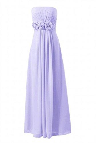 Daisyformals Robe Pleine De Demoiselle D'honneur Longueur Longue Robe De Soirée W / Fleurs (bm122b) # 7-lavande