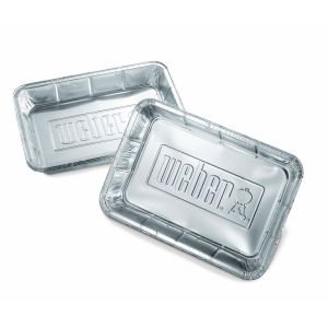 Weber 6415 Small 7-1/2-Inch-by-5-inch Aluminum Drip Pans - Set of 20