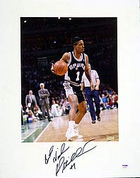 Rod Strickland Signed 16x20 Matted Photo San Antonio Spurs - PSA/DNA Authentication - Basketball Collectible
