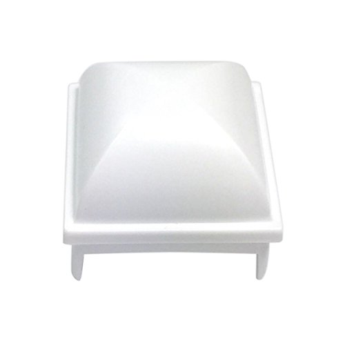 InstaCap Above Ground Pool Fence Post Caps- (Package of 12 Pieces) White, 1.5 inch Square Post (fits Many Brands of Pools)