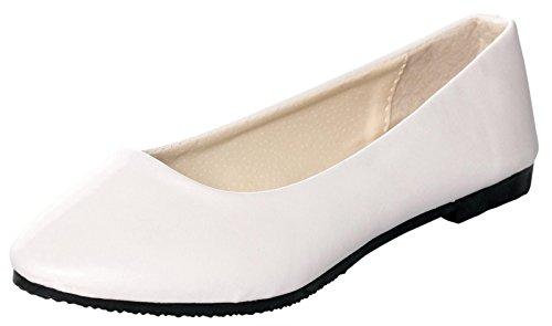 White Gold Ballet Slippers - 7