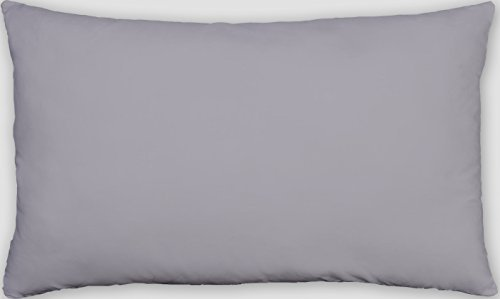 2-Pack Toddler Pillowcases Cover 13x18 Inches 100% Cotton Great for Sleep or Travel Made In USA Silver Grey