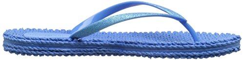 Ilse Jacobsen Damen Glitzer Flip Flop, Cheerful01 Damen Zehentrenner Blau (See blau (622))