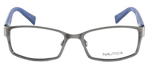 Óculos De Grau Nautica N7248 Prata Azul
