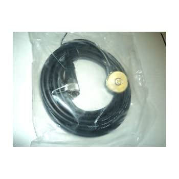 """PCTEL BMATM//NC25 NMO 3//8 or 3//4/"""" Hole Mount w// 25/' of Cable Connector Choice"""