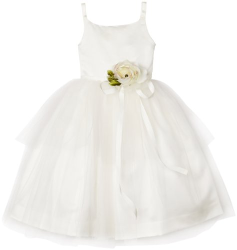 Us Angels Little Girls' Toddler Ballerina Inspired Dress, Ivory, 2T by US Angels