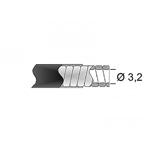 Gaine de frein 32//10 transfil fil plat noir rouleau 15m Transfil 880148