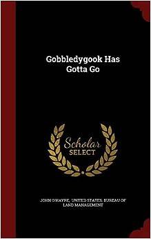 Book Gobbledygook Has Gotta Go