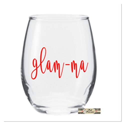 Wine Glass, Stemless Wine Glass, Glam Ma, Glam-ma Funny Wine Glass, Adult Party, White Elephant, Secret Santa, Host Gift, Teacher Gift, 21oz Any Color]()