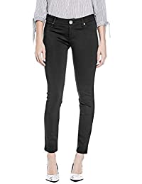 Guess Factory Women's Miri Ponte-Knit Skinny Pants Jet Black