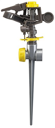 (Nelson Plastic Head Pulsating Sprinkler Head on Metal Spike 50201)