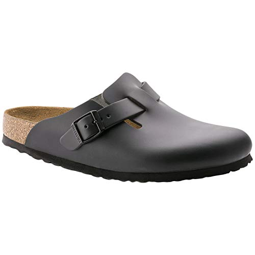 Birkenstock Men´s Boston Black Oiled Leather Sandals 40 EU (M7/L9 US) R 059461 (Birkenstock Habana Oiled Clogs)