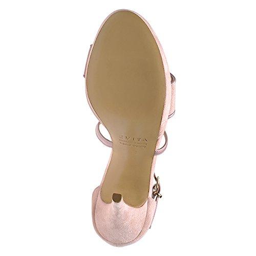 42 Cuirs 2 Femme Sandales Rose Valeria Vieux Shoes Evita 8qf4vv