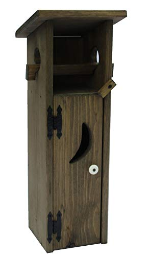 - Dicks Wood Creations Outhouse Toilet Paper Holder