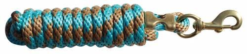 Professional's Choice Poly Cotton Lead Rope Tan/Turquoise