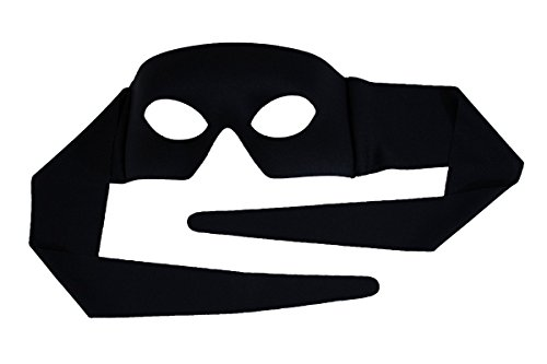Success Creations Verona Black With Tie Men's Masquerade Mask