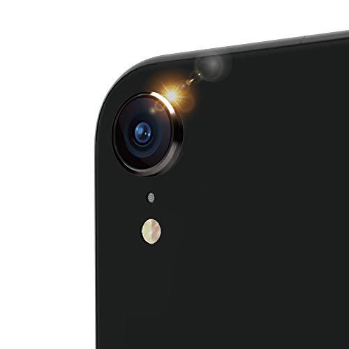 ゾーン長椅子典型的なSimplism iPhone XR [Lens Bumper] カメラレンズ保護アルミフレーム ブラック
