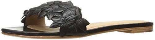 Pour La Victoire Women's Lani Flat Sandal, Black, 8 M US by Pour La Victoire