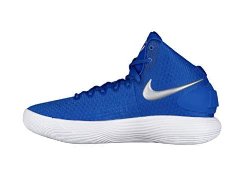Nike Mens React Hyperdunk 2017 Basketball Shoes (Royal Blue/Metallic Silver/White, 13.5 M US)