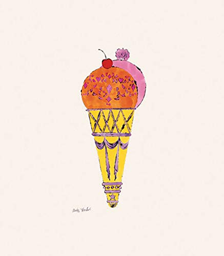 Posters: Andy Warhol Poster Art Print - Ice Cream Dessert, C.1959 (red & Pink) (14 x 11 -
