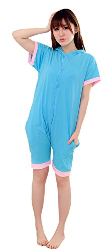 His And Her Costumes 2016 (MiziHome Summer Short Sleeve Blue Bodysuit Romper Onesie Outfit, Elephant S)