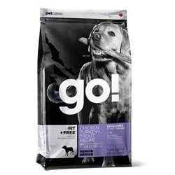 PETCUREAN 152411 Go Fit Plus Free Grain Free Senior for Dog, 12-Pound