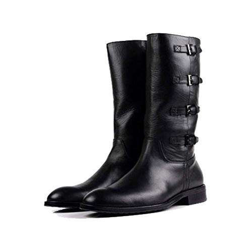 Autunno E Inverno Versione Coreana Stivali Alti da Uomo Scarpe Britanniche Stivali A Punta Martin Stivali Black