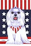 Maltese by Tomoyo Pitcher, Patriotic Themed Dog Breed Flags 28 x 40 Review
